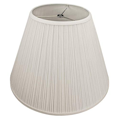 FenchelShadescom Lampshade 9 Top Diameter X 18 Bottom Diameter X 13 Slant Height With Washer Spider Attachment For Lamps With A Harp Pleated Cream 0