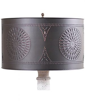 Floor Lamp Drum Shade With Chisel In Kettle Black 0 300x360