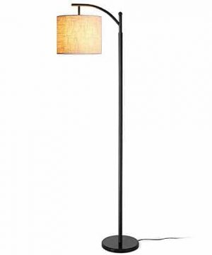 Floor Lamp Zanflare LED Floor Lamp Classic Arc Floor Lamp With Hanging Lamp Shade Modern Floor Lamp For Bedroom Office Study Room Energy Saving Bedside Lamp With LED Bulb Black 0 300x360