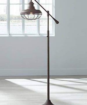 Franklin Park II Industrial Floor Lamp Boom Style Earthy Rust Metal Cage For Living Room Reading Bedroom Office Franklin Iron Works 0 300x360