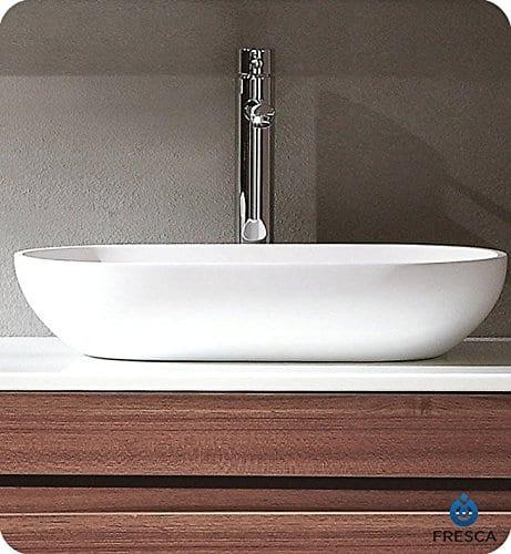 Fresca FVS8054WH Oval Acrylic Modern Bathroom Vessel Sink White 0 0