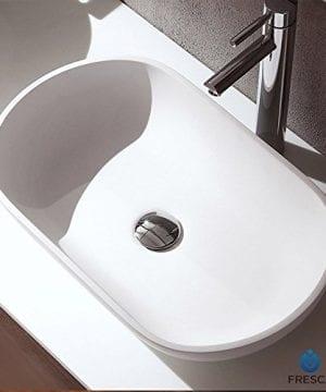 Fresca FVS8054WH Oval Acrylic Modern Bathroom Vessel Sink White 0 1 300x360
