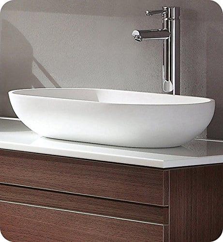 Fresca FVS8054WH Oval Acrylic Modern Bathroom Vessel Sink White 0