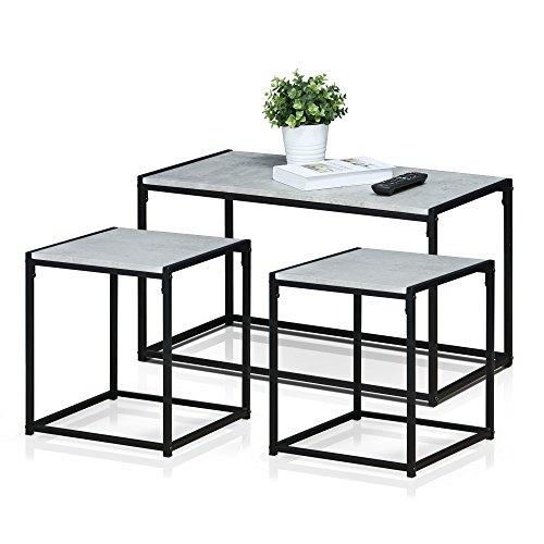 Furinno FM TS31SW Modern Lifestyle Living Room Set Stone 0