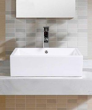 Giantex 20 Inch Bathroom Rectangle Ceramic Vessel Sink Vanity Pop Up Drain Art Basin 0 0 300x360
