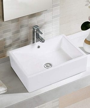 Rectangle Ceramic Vessel Sink Vanity