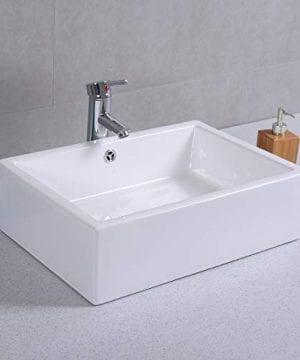 Giantex 20 Inch Bathroom Rectangle Ceramic Vessel Sink Vanity Pop Up Drain Art Basin 0 4 300x360
