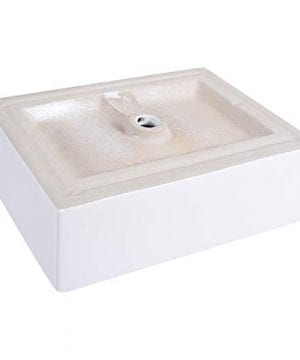 Giantex 20 Inch Bathroom Rectangle Ceramic Vessel Sink Vanity Pop Up Drain Art Basin 0 5 300x360
