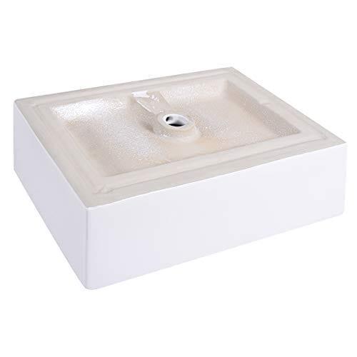 Giantex 20 Inch Bathroom Rectangle Ceramic Vessel Sink Vanity Pop Up Drain Art Basin 0 5