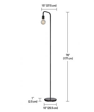 Globe Electric Holden 70 Floor Lamp Black In Line OnOff Foot Switch 12937 0 0 300x360