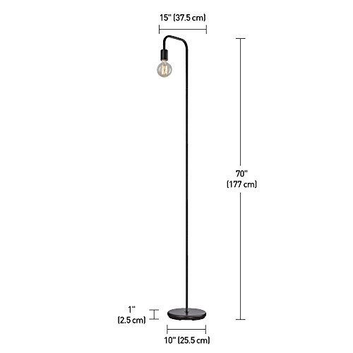 Globe Electric Holden 70 Floor Lamp Black In Line OnOff Foot Switch 12937 0 0