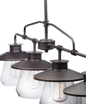 Globe Electric Nate 4 Light Pendant Oil Rubbed Bronze Clear Glass Shades 65382 0 0 300x360