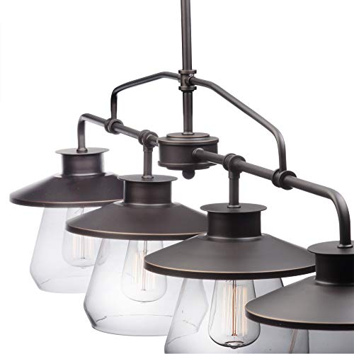 Globe Electric Nate 4 Light Pendant Oil Rubbed Bronze Clear Glass Shades 65382 0 0