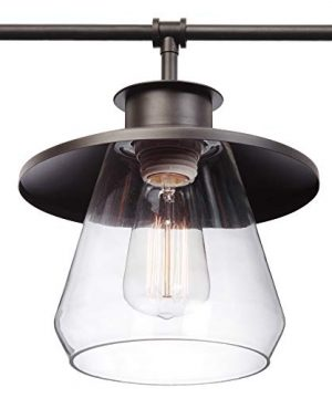 Globe Electric Nate 4 Light Pendant Oil Rubbed Bronze Clear Glass Shades 65382 0 1 300x360