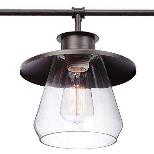 Globe Electric Nate 4 Light Pendant Oil Rubbed Bronze Clear Glass Shades 65382 0 1