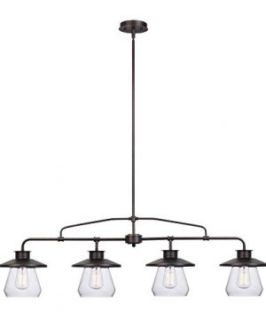 Globe Electric Nate 4 Light Pendant Oil Rubbed Bronze Clear Glass Shades 65382 0 300x360