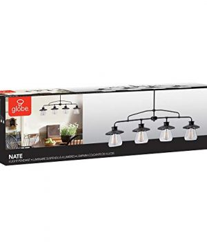 Globe Electric Nate 4 Light Pendant Oil Rubbed Bronze Clear Glass Shades 65382 0 5 300x360