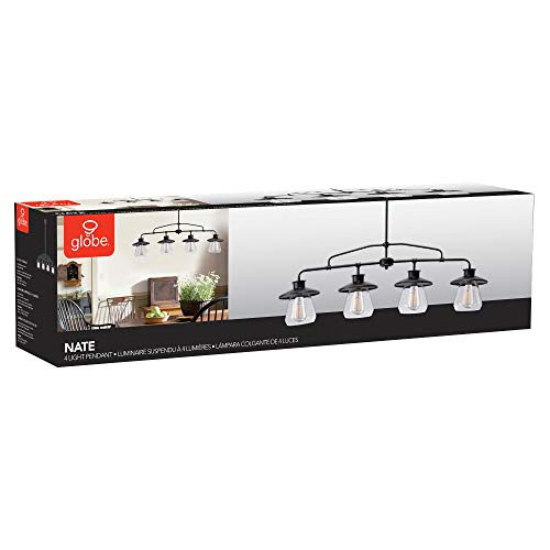 Globe Electric Nate 4 Light Pendant Oil Rubbed Bronze Clear Glass Shades 65382 0 5