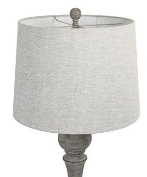 Grandview Gallery 32 Reclaimed Grey Table Lamps WLinen Lamp Shades Set Of Two Farmhouse And Country Style 0 1 300x360