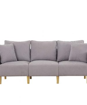 Honbay 3 Piece Chair Loveseat Sofa Sets