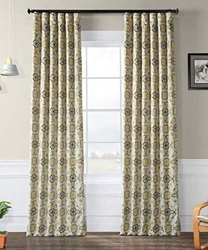 HPD Half Price Drapes BOCH KC41 84 Blackout Curtain 50 X 84 Soliel Yellow Gray 0 300x360