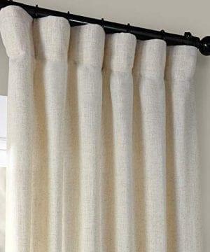HPD Half Price Drapes FHLCH VET13192 120 Heavy Faux Linen Curtain 50 X 120 Barley 0 0 300x360