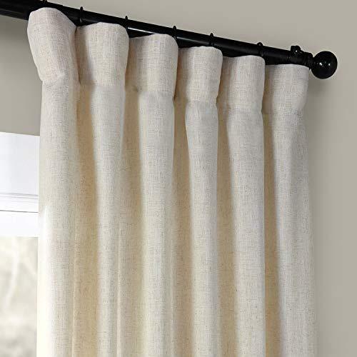 HPD Half Price Drapes FHLCH VET13192 120 Heavy Faux Linen Curtain 50 X 120 Barley 0 0