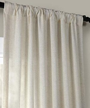 HPD Half Price Drapes FHLCH VET13192 120 Heavy Faux Linen Curtain 50 X 120 Barley 0 1 300x360