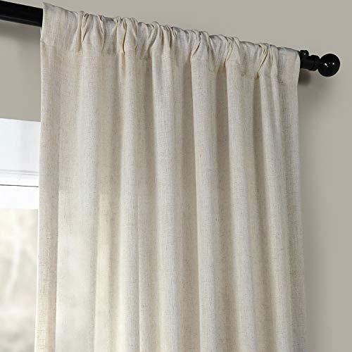HPD Half Price Drapes FHLCH VET13192 120 Heavy Faux Linen Curtain 50 X 120 Barley 0 1