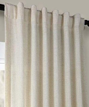 HPD Half Price Drapes FHLCH VET13192 120 Heavy Faux Linen Curtain 50 X 120 Barley 0 2 300x360