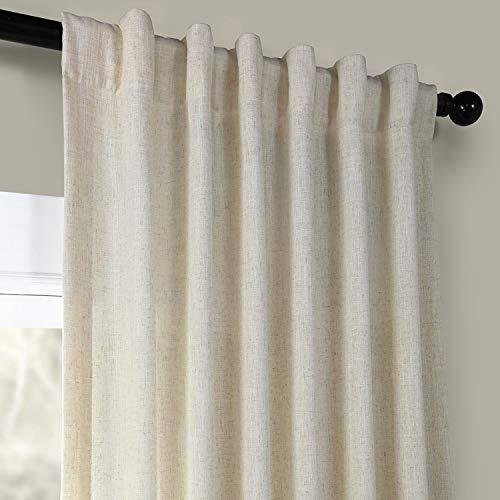 HPD Half Price Drapes FHLCH VET13192 120 Heavy Faux Linen Curtain 50 X 120 Barley 0 2