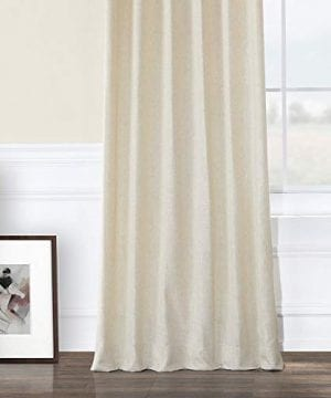 HPD Half Price Drapes FHLCH VET13192 120 Heavy Faux Linen Curtain 50 X 120 Barley 0 3 300x360