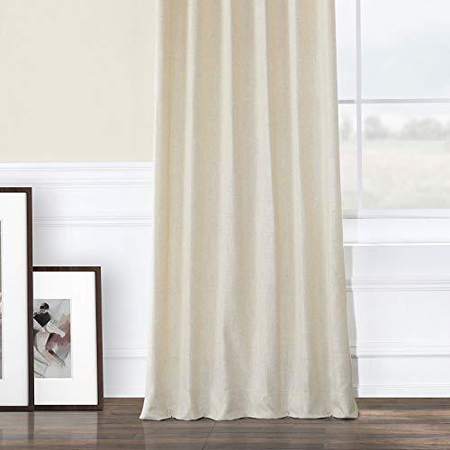 HPD Half Price Drapes FHLCH VET13192 120 Heavy Faux Linen Curtain 50 X 120 Barley 0 3