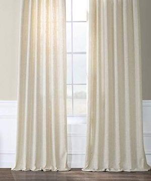 HPD Half Price Drapes FHLCH VET13192 120 Heavy Faux Linen Curtain 50 X 120 Barley 0 4 300x360