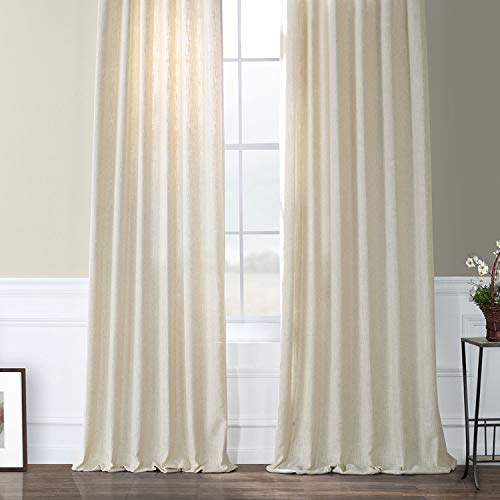 HPD Half Price Drapes FHLCH VET13192 120 Heavy Faux Linen Curtain 50 X 120 Barley 0 4
