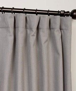 HPD Half Price Drapes FHLCH VET13194 84 Heavy Faux Linen Curtain 50 X 84 Pewter Grey 0 0 300x360