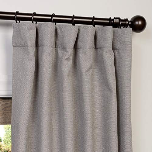 HPD Half Price Drapes FHLCH VET13194 84 Heavy Faux Linen Curtain 50 X 84 Pewter Grey 0 0