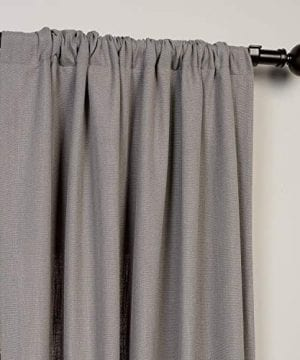 HPD Half Price Drapes FHLCH VET13194 84 Heavy Faux Linen Curtain 50 X 84 Pewter Grey 0 1 300x360