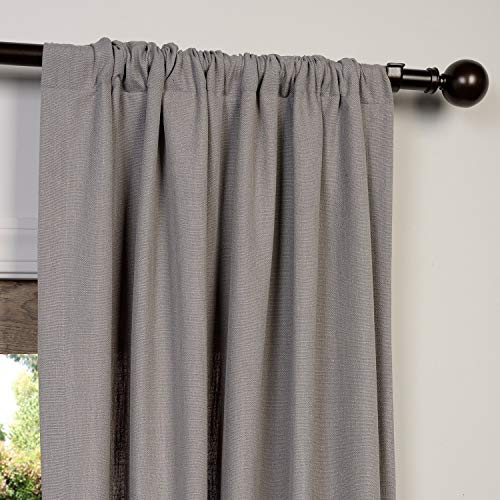 HPD Half Price Drapes FHLCH VET13194 84 Heavy Faux Linen Curtain 50 X 84 Pewter Grey 0 1