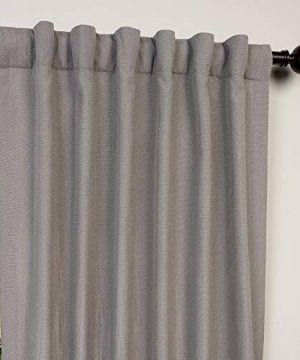 HPD Half Price Drapes FHLCH VET13194 84 Heavy Faux Linen Curtain 50 X 84 Pewter Grey 0 2 300x360