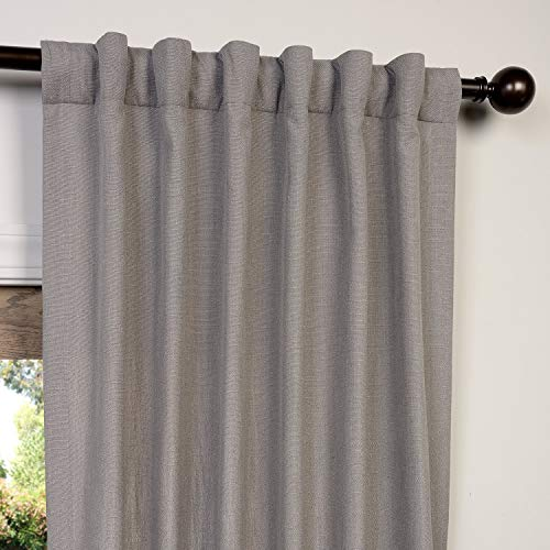 HPD Half Price Drapes FHLCH VET13194 84 Heavy Faux Linen Curtain 50 X 84 Pewter Grey 0 2