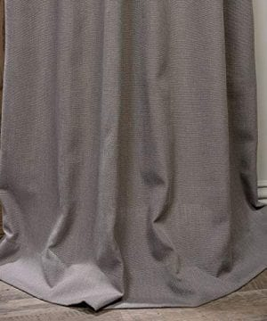 HPD Half Price Drapes FHLCH VET13194 84 Heavy Faux Linen Curtain 50 X 84 Pewter Grey 0 3 300x360