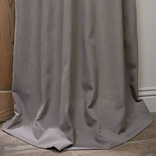 HPD Half Price Drapes FHLCH VET13194 84 Heavy Faux Linen Curtain 50 X 84 Pewter Grey 0 3