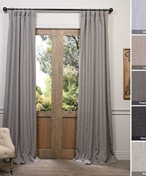HPD Half Price Drapes FHLCH VET13194 84 Heavy Faux Linen Curtain 50 X 84 Pewter Grey 0 300x360