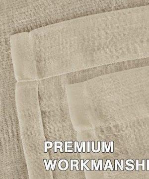 HVERSAILTEX Elegant Natural Linen Curtain Panels Energy Efficient Semi Sheers Linen CurtainsNickel Grommet Window Treatments PanelsDrapes Set Of 2 Beige 52 By 96 Inch 0 2 300x360