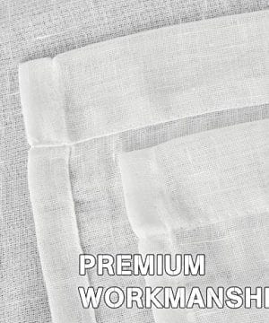 HVERSAILTEX Extra Long Linen Curtains Window Treatments For Living RoomRich Linen Sheer Curtain Panels And Drapes Classic Nickel Grommet Extra Long Curtains 52 By 108 Inch 2 Panels 0 2 300x360