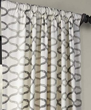 Half Price Drapes PRCT D02 108 Illusions Silver Printed Cotton Curtain 50 X 108 Grey 0 1 300x360