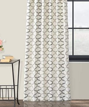 Half Price Drapes PRCT D02 108 Illusions Silver Printed Cotton Curtain 50 X 108 Grey 0 3 300x360