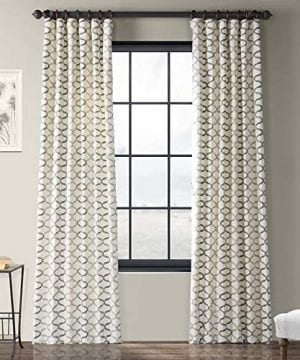 Half Price Drapes PRCT D02 108 Illusions Silver Printed Cotton Curtain 50 X 108 Grey 0 300x360