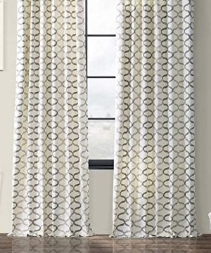 Half Price Drapes PRCT D02 108 Illusions Silver Printed Cotton Curtain 50 X 108 Grey 0 4 300x360